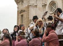 Joke of Cadiz. Men and women are dressed singing, picture taken at Cadiz Carnival 2014 Stock Photo