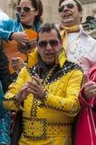 Joke of Cadiz. Men and women are dressed singing, picture taken at Cadiz Carnival 2014 Royalty Free Stock Photo