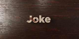 Joke - grungy wooden headline on Maple  - 3D rendered royalty free stock image Stock Photography