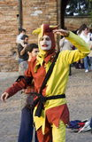 The joker. Medieval reenactment at the castle of Pozzolo Formigaro, Italy. September 2008 Stock Photo