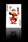 Joker. Playing card with red and black costume Royalty Free Stock Image