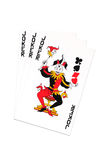 Joker. Three joker cards for play poker Stock Image