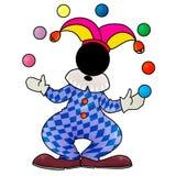 Joker. Silhouette-man cosplay joker juggling balls Stock Photo