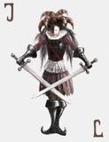 Joker. (Harlequin). Personage of a face card vector illustration