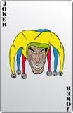 Joker. Playing card, cartoon vector illustration stock illustration