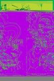 The Joker. A Joker Portrait In Acid Green Stock Photography