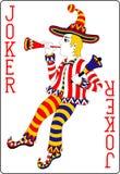 Joker 62x90 rouge millimètre de carte de jeu illustration de vecteur