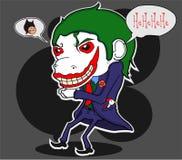 Joker and batman cartoon parody. Cartoon illustrations joker and batman parody t-shirt or poster print design. esp inside vector illustration