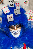 Joker blue mask. In venice during carnival Stock Photos