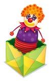 Joker in a box. Illustration of joker in a box on a white background stock illustration