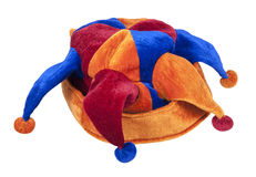 Joker Cap of Red Blue and Orange Stock Images