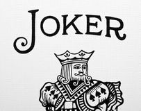Joker card Royalty Free Stock Photo