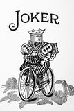 Joker card. Close-up view of Joker card. Enigmatic card Royalty Free Stock Photo