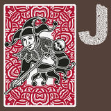 Joker Card Celtic Ornament. Vector illustration of The Joker in playing card deck. Design elements. Perfect set for any other kind of design. Isolated. Layered vector illustration