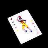 Joker card isolated on black. Background Royalty Free Stock Photo