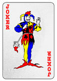 The Joker Card. The joker from a pack of playing cards isolated on a white background royalty free illustration