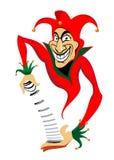 Joker with cards. Smiling joker man for casino or poker design Royalty Free Stock Images