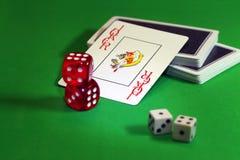 joker Cosses royales d'instantané de casino de cartes de jeu Photos stock