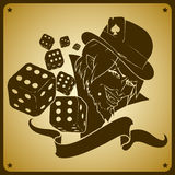 Joker and dices Stock Images