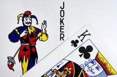 Joker et Roi Cards Images libres de droits