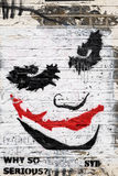 Joker face graffiti. Brick Lane, London Royalty Free Stock Photo