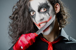 Joker with face mask Royalty Free Stock Photos