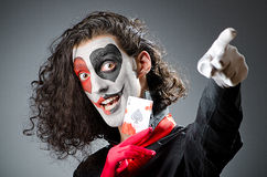 Joker with face mask Stock Photos