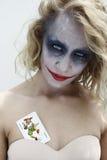 Joker face 3. Scary painted dramatic joker face Royalty Free Stock Photo