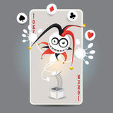 Joker Harlequin Card Royalty Free Stock Image