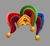Joker hat. Isolated on gray. Vector illustration Stock Photos