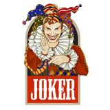 Joker Joker playing card design. Men in joker costume. Joker playing card design. Men in joker costume. Colored illustration royalty free illustration