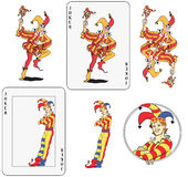 Joker jouant la carte Image stock