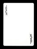 Joker kleurloze speelkaart, Royalty-vrije Stock Fotografie