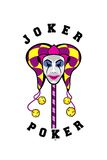 Joker mask on a stick Stock Photos