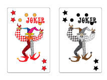 Joker playing card. On white background Stock Images