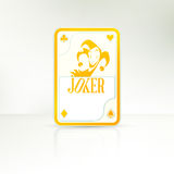 Joker Playing Card. The lucky hand | Joker Playing Card Stock Images