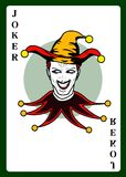Joker playing card. Vector illustration Stock Photography