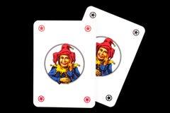 Joker playing cards Royalty Free Stock Photos