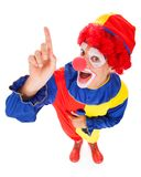 Joker With Raised Finger Royalty Free Stock Photo