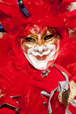 Joker Red mask. In venice during carnival Stock Photography