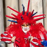 Joker Red mask. In venice during carnival Royalty Free Stock Images