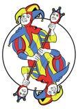 Joker Reversible in a circle Royalty Free Stock Image