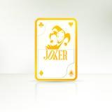 Joker som spelar kortet Arkivbilder