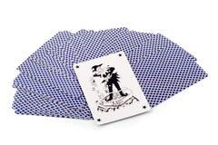 Joker in speelkaarten Royalty-vrije Stock Foto