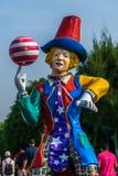 Joker statuary. The joker statuary in  amusement park Stock Photography