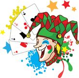 Joker vector illustartion Stock Image