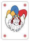 Jokerframsida stock illustrationer
