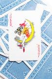 Jokerkaart Royalty-vrije Stock Foto's