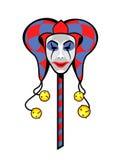 Jokermaskering på en pinne Fotografering för Bildbyråer