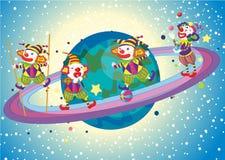 Jokers op planeet Royalty-vrije Stock Afbeeldingen